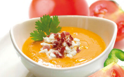 Bioterraneo's gluten-free organic salmorejo is surprising in the last edition of the Gourmet Salon