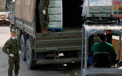 Donación de productos Bioterráneo al banco de alimentos.